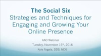 2016 Webinar - The Social Six: Strategies and Techniques for Engaging & Growing Your Online Presence